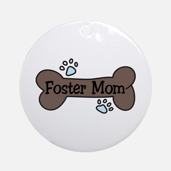Foster Mom Ornament (Round)
