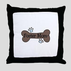 Foster Mom Throw Pillow