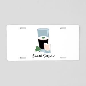 Bomb Squad Aluminum License Plate