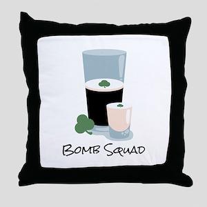 Bomb Squad Throw Pillow