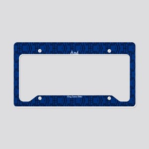 John 6:35 The Word blue License Plate Holder