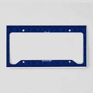 John 6:35 The Word blue License Plate Holder