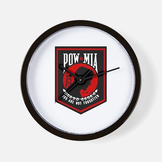 POW MIA (Red) Wall Clock