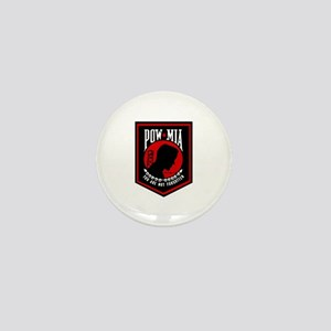 POW MIA (Red) Mini Button