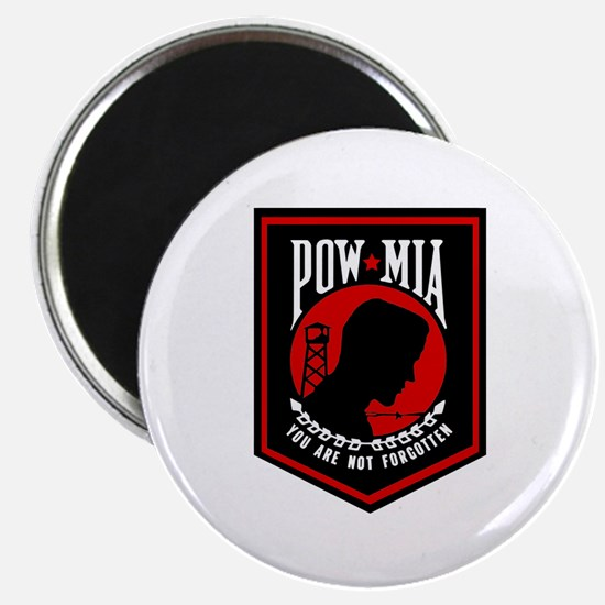 """POW MIA (Red) 2.25"""" Magnet (100 pack)"""