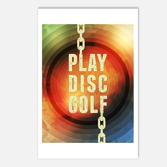 Play Disc Golf Postcards (Package of 8)