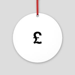 British Pound Ornament (Round)