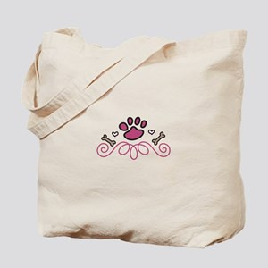 Dog Paw Swirl Tote Bag