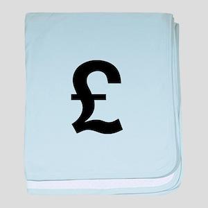 British Pound baby blanket