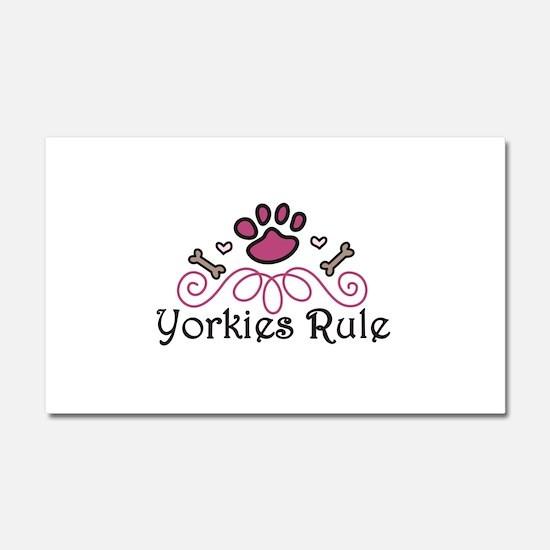 Yorkies Rule Car Magnet 20 x 12