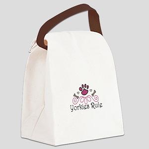 Yorkies Rule Canvas Lunch Bag