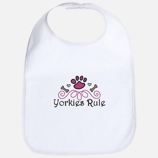 Yorkies Rule Bib