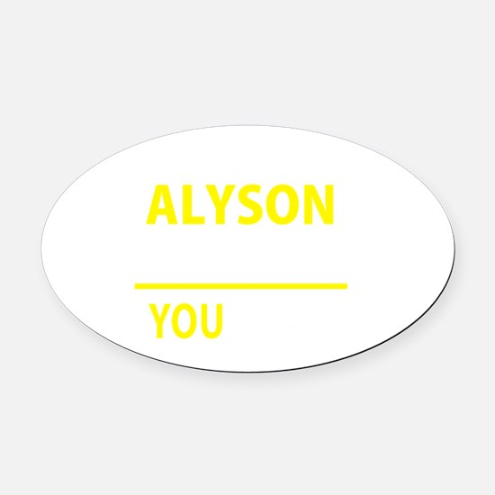 Cute Alyson Oval Car Magnet