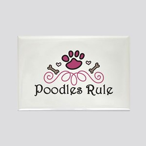 Poodles Rule Magnets