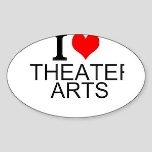 I Love Theater Arts Sticker