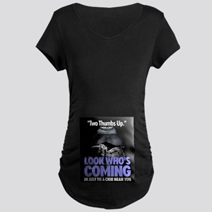 Look Whos Coming in July Maternity Dark T-Shirt