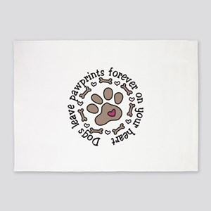 Pawprints 5'x7'Area Rug
