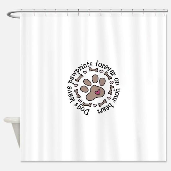 Pawprints Shower Curtain