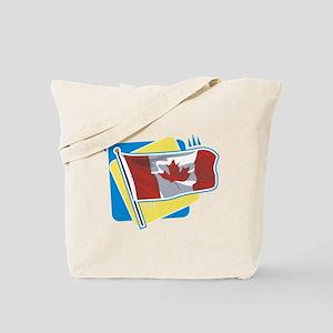 Canadian Flag Tote Bag