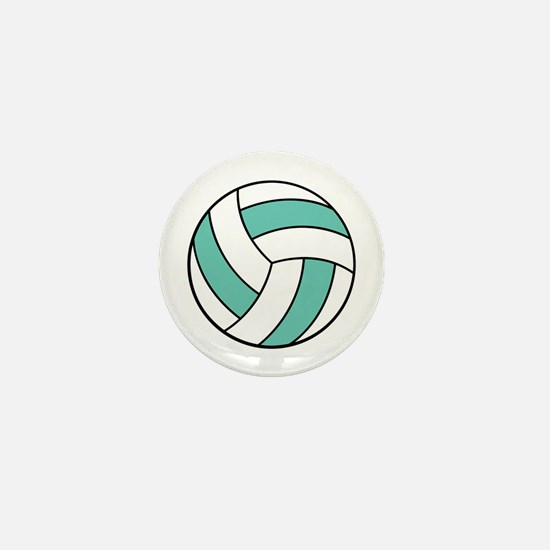 Funny Volleyball Belly Mini Button