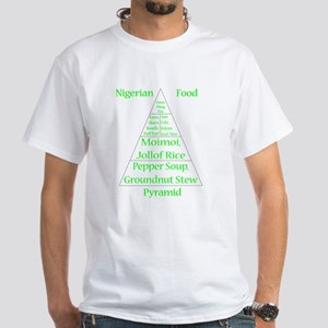 Nigerian Food Pyramid White T-Shirt
