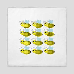 Cute Honey Bees Queen Duvet