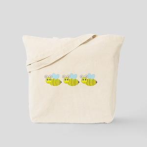 Row of Honey Bees Tote Bag