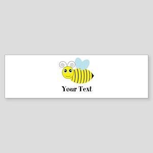 Personalizable Honey Bee Bumper Sticker