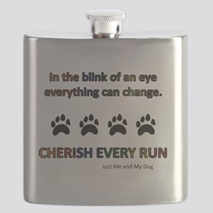 Cherish Every Run Flask