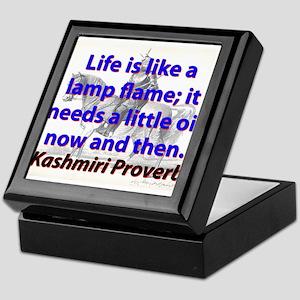 Life Is Like A Lamp Flame Keepsake Box