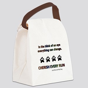 Cherish Every Run Canvas Lunch Bag