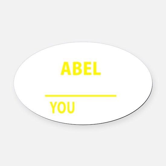Cute Abel Oval Car Magnet