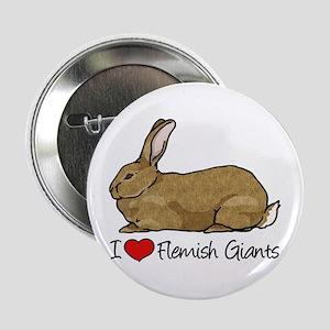 "I Heart Flemish Giant Rabbits 2.25"" Button"