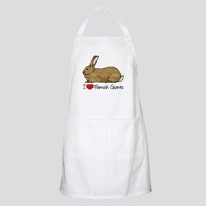 I Heart Flemish Giant Rabbits Apron
