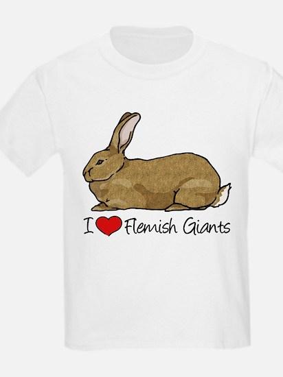I Heart Flemish Giant Rabbits T-Shirt