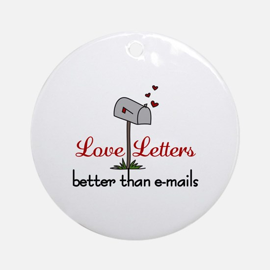 Love Letters Ornament (Round)