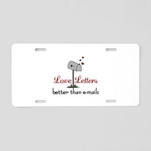 Love Letters Aluminum License Plate