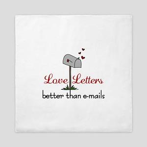Love Letters Queen Duvet