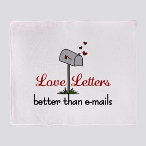 Love Letters Throw Blanket