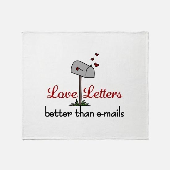 Love Letters Throw Blanket