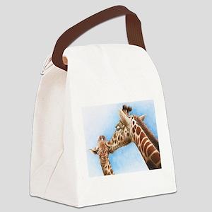 Giraffe and Calf Canvas Lunch Bag