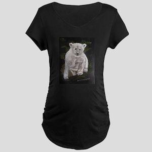 Young polar bear Maternity T-Shirt