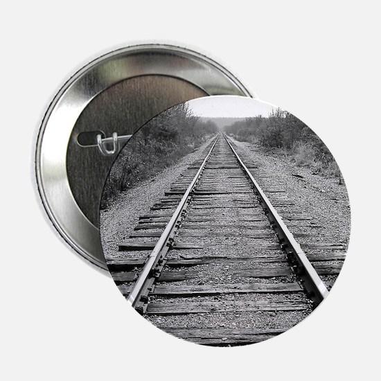 """Train Tracks 2.25"""" Button"""