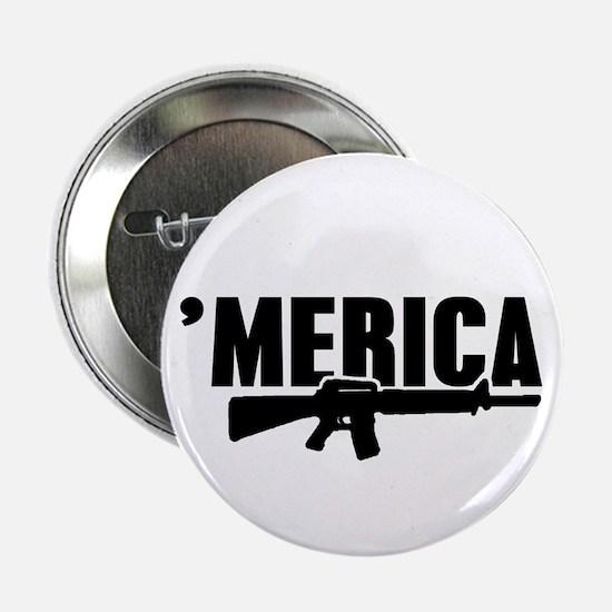 """MERICA Rifle Gun 2.25"""" Button"""