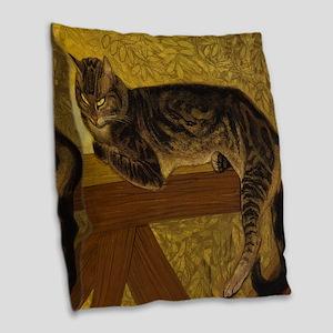Steinlen Summer Cat Burlap Throw Pillow