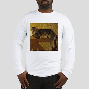 Steinlen Summer Cat Long Sleeve T-Shirt