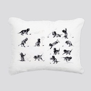 Steinlen Cultural Cats Rectangular Canvas Pillow
