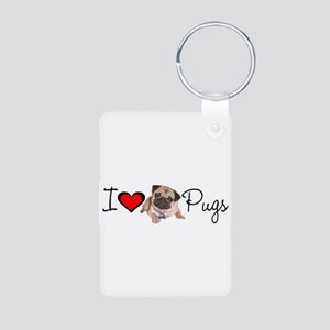 charm_lv pugs super link Aluminum Photo Keycha