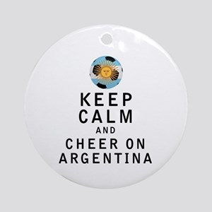 Keep Calm and Cheer On Argentina Ornament (Round)