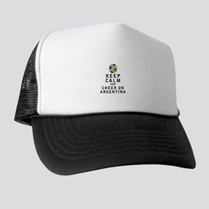 Keep Calm and Cheer On Argentina Trucker Hat